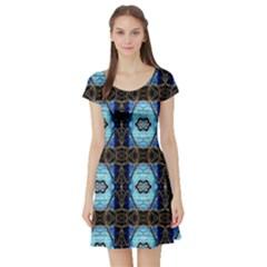 Lit0211003013  Short Sleeve Skater Dresses