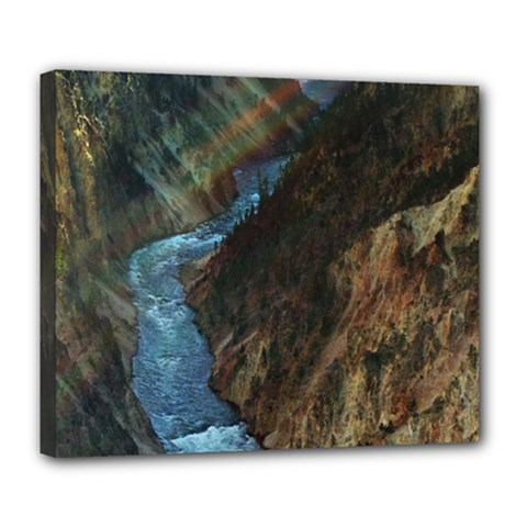 YELLOWSTONE LOWER FALLS Deluxe Canvas 24  x 20
