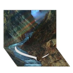 YELLOWSTONE LOWER FALLS Heart Bottom 3D Greeting Card (7x5)