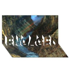 YELLOWSTONE LOWER FALLS ENGAGED 3D Greeting Card (8x4)