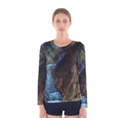 YELLOWSTONE LOWER FALLS Women s Long Sleeve T-shirts