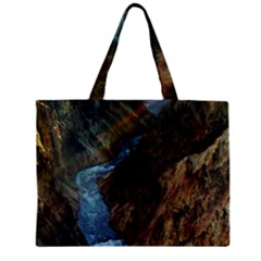 Yellowstone Lower Falls Zipper Tiny Tote Bags