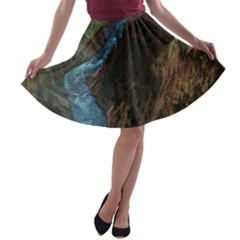 YELLOWSTONE LOWER FALLS A-line Skater Skirt