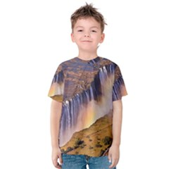 Waterfall Africa Zambia Kid s Cotton Tee