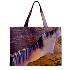 WATERFALL AFRICA ZAMBIA Zipper Tiny Tote Bags