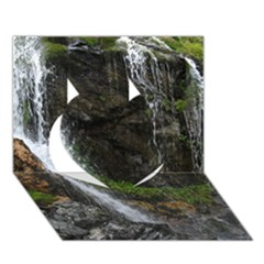 Waterfall Heart 3d Greeting Card (7x5)