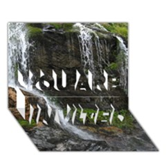 Waterfall You Are Invited 3d Greeting Card (7x5)