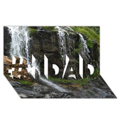 Waterfall #1 Dad 3d Greeting Card (8x4)