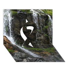 Waterfall Ribbon 3d Greeting Card (7x5)