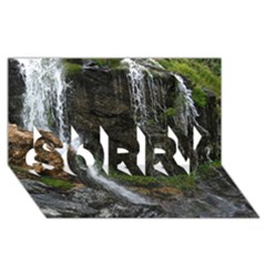 WATERFALL SORRY 3D Greeting Card (8x4)