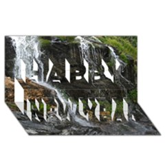 WATERFALL Happy New Year 3D Greeting Card (8x4)