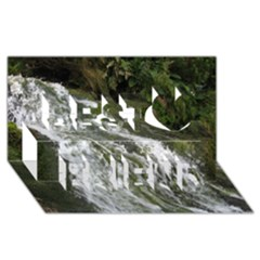 Water Overflow Best Friends 3d Greeting Card (8x4)