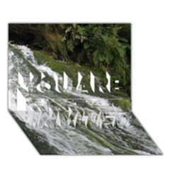 Water Overflow You Are Invited 3d Greeting Card (7x5)
