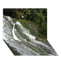 WATER OVERFLOW Circle 3D Greeting Card (7x5)