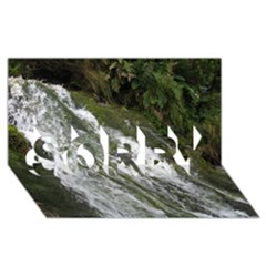 Water Overflow Sorry 3d Greeting Card (8x4)