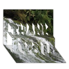 WATER OVERFLOW THANK YOU 3D Greeting Card (7x5)