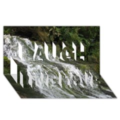Water Overflow Laugh Live Love 3d Greeting Card (8x4)