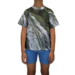 Water Overflow Kid s Short Sleeve Swimwear