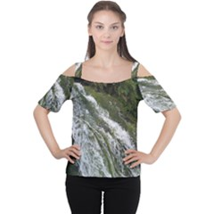 WATER OVERFLOW Women s Cutout Shoulder Tee