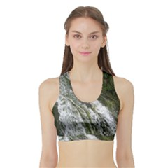 Water Overflow Women s Sports Bra With Border