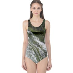 Water Overflow One Piece Swimsuit
