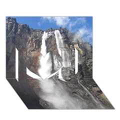 Salto Del Angel I Love You 3d Greeting Card (7x5)
