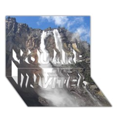 Salto Del Angel You Are Invited 3d Greeting Card (7x5)