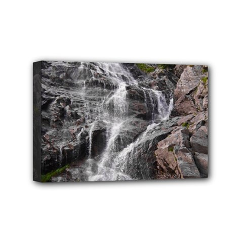 MOUNTAIN WATERFALL Mini Canvas 6  x 4