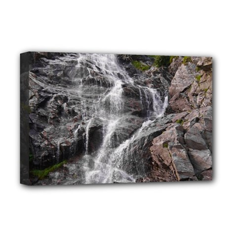 MOUNTAIN WATERFALL Deluxe Canvas 18  x 12