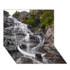 MOUNTAIN WATERFALL Circle Bottom 3D Greeting Card (7x5)