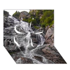Mountain Waterfall Clover 3d Greeting Card (7x5)