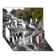 Mountain Waterfall Get Well 3d Greeting Card (7x5)
