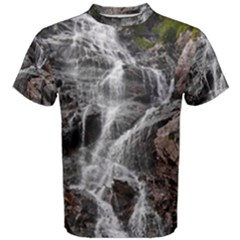 Mountain Waterfall Men s Cotton Tees
