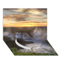 IGUAZU FALLS Circle Bottom 3D Greeting Card (7x5)