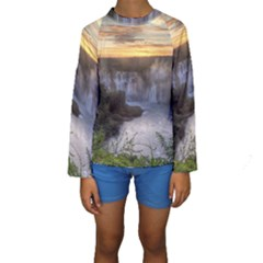 Iguazu Falls Kid s Long Sleeve Swimwear