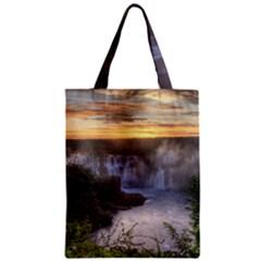 Iguazu Falls Zipper Classic Tote Bags