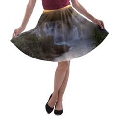 IGUAZU FALLS A-line Skater Skirt
