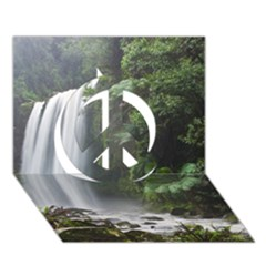 HOPETOUN FALLS Peace Sign 3D Greeting Card (7x5)