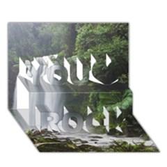 HOPETOUN FALLS You Rock 3D Greeting Card (7x5)