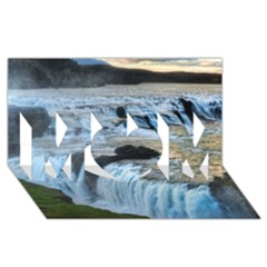GULLFOSS WATERFALLS 2 MOM 3D Greeting Card (8x4)
