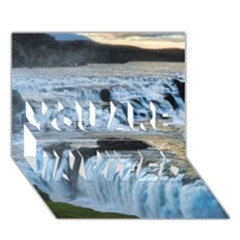 Gullfoss Waterfalls 2 You Are Invited 3d Greeting Card (7x5)