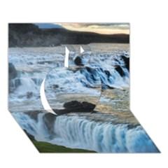 Gullfoss Waterfalls 2 Apple 3d Greeting Card (7x5)