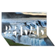 GULLFOSS WATERFALLS 2 #1 DAD 3D Greeting Card (8x4)
