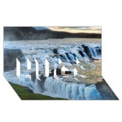 Gullfoss Waterfalls 2 Hugs 3d Greeting Card (8x4)