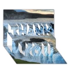 Gullfoss Waterfalls 2 Thank You 3d Greeting Card (7x5)