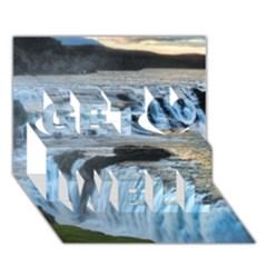 GULLFOSS WATERFALLS 2 Get Well 3D Greeting Card (7x5)
