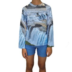 GULLFOSS WATERFALLS 2 Kid s Long Sleeve Swimwear