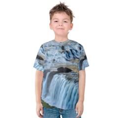 GULLFOSS WATERFALLS 2 Kid s Cotton Tee