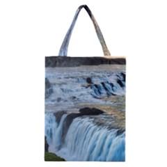 GULLFOSS WATERFALLS 2 Classic Tote Bags