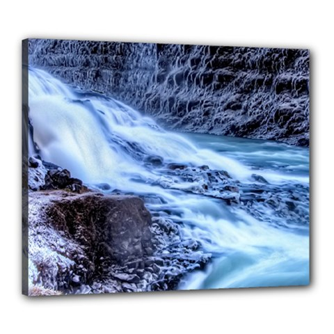 GULLFOSS WATERFALLS 1 Canvas 24  x 20